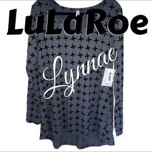 NWT LULAROE UNICORN GREY & BLACK LYNNAE